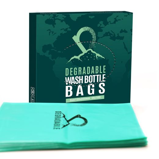 Eco Degradable tattoo wash bottle bags 100st